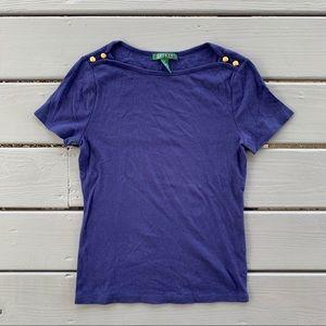 Lauren Ralph Lauren Navy T-Shirt